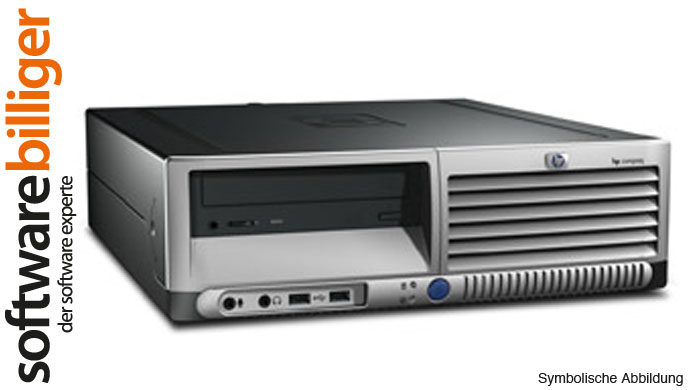 HP Compaq Computer DC5100 Pentium 4 2.8GHz 2GB 80GB PC Windows 7 Professional