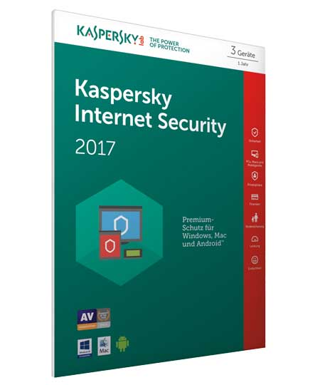 Kaspersky Internet Security 2017 - 3PC / 1Jahr + Android Sec. - FFP
