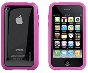 HardCase Microshield Accent Pink iPhone Schutzh�lle 3G/3GS