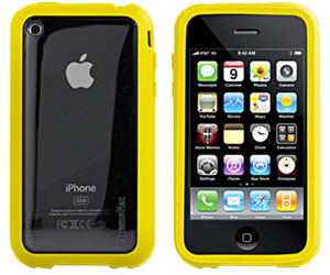 HardCase XtremeMac Microshield Accent Yellow iPhone Schutzhülle 3G/3GS