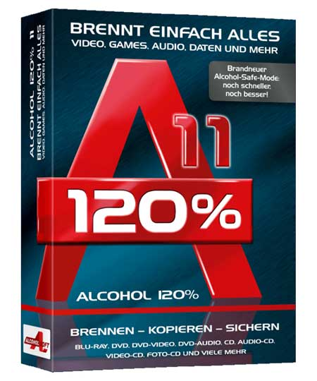 Alcohol 120% 11 Brennprogramm für Windows