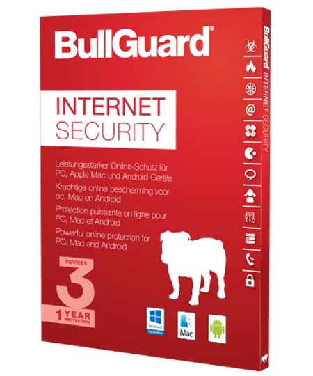 BullGuard Internet Security - 3PCs / 1 Jahr - PKC