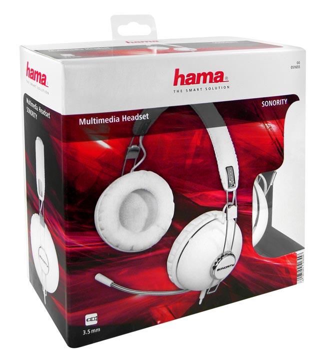 Hama Sonority - Multimedia Stereo Gaming Headset - Weiß