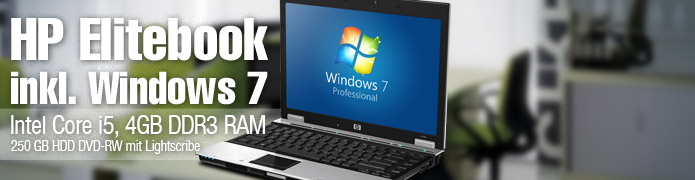 HP Elitebook 8440p - 14 Zoll Laptop Intel Core i5 2,53GHz Webcam DVD-RW Lightscribe Windows 7 Professional 64 Bit