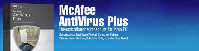 McAfee Antivirus Plus 2014 + Mobile Security - 1 PC und 1 Android 1 Jahr