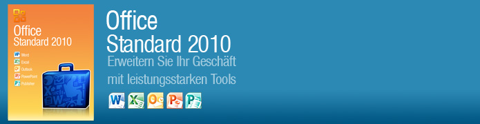 Office Standard 2010 Aktivierungsschl�ssel - Word, Excel, Power Point, OneNote, Outlook, Publisher