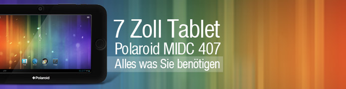 Polaroid MIDC 407 - 7 Zoll Tablet mit Android 4.0 - black
