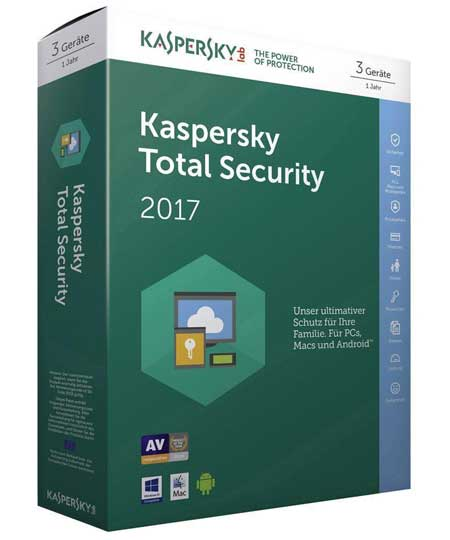 Kaspersky Total Security 2017 - 3 PC / 1 Jahr - Box