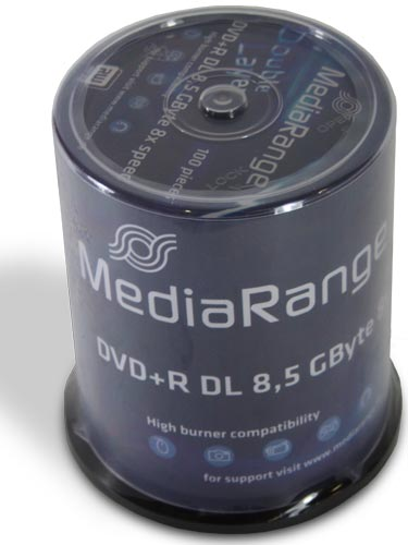 MediaRange - DVD+R Double Layer Rohlinge - 8,5GB - Spindel