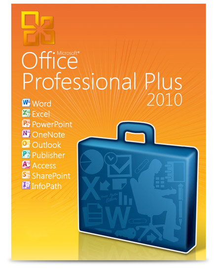 Microsoft office professional plus 2010 word excel power point onenote outlook publisher - Office professional plus 2010 ...