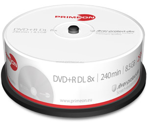 PrimeOn - DVD+R Double Layer Rohlinge - 8,5GB - Spindel