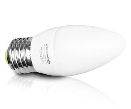WHITENERGY LED Lampe C37 Kerzenform E27