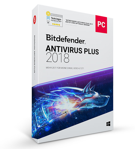 Bitdefender Antivirus Plus 2018 - 5 User / 1 Jahr -  ESD