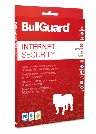 BullGuard Internet Security inkl. Antivirenschutz 2019 - 2 User / 1 Jahr ESD