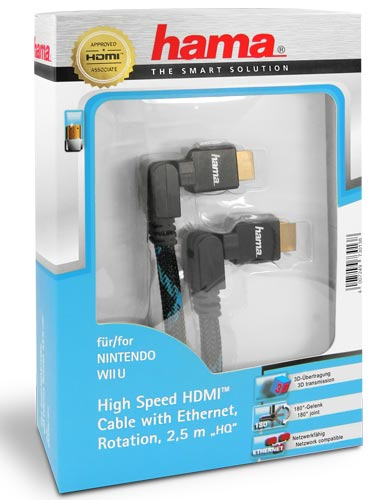 Hama High Speed HDMI - Ethernet Rotation Kabel - 2,5 Meter - Blau