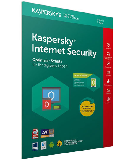 Kaspersky Internet Security - 1PC / 1 Jahr + Android Sec.