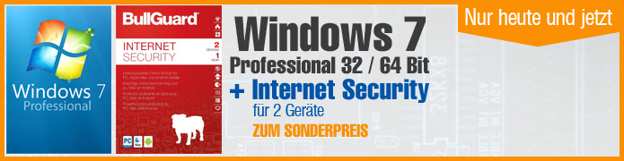 Windows 7 Professional (1 PC) + Bullguard Internet Security (2 User/1Jahr)  ESD