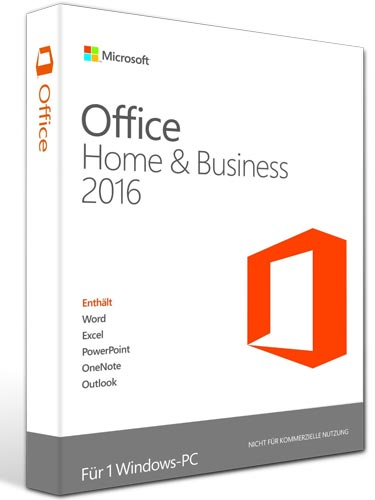 Microsoft Office 2016 Home and Business - Word, Excel, OneNote, PowerPoint, Outlook - PKC