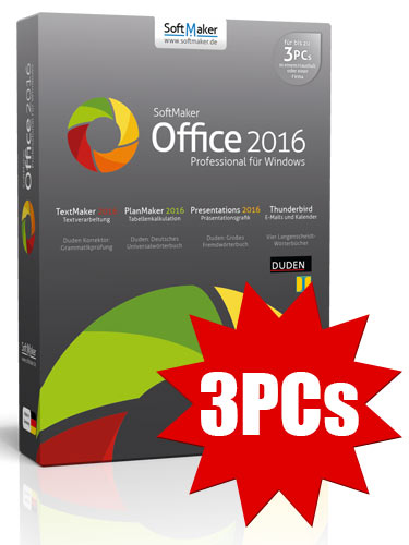 SoftMaker Office Professional 2016 - 3PCs