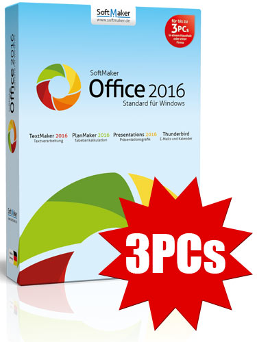 SoftMaker Office Standard 2016 - 3PCs - ESD